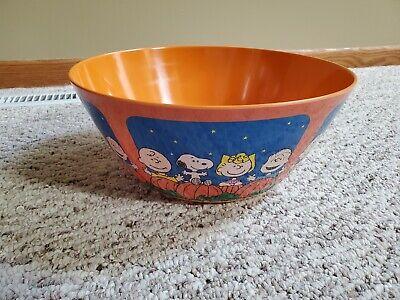 Peanuts large 12 Inch Halloween Melamine Candy treat Bowl nwt