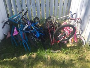 Bikes and bike parts for sale. Great deal!!