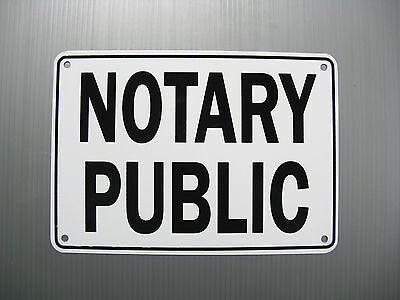 Notary Public Service Sign Metal Heavy Duty