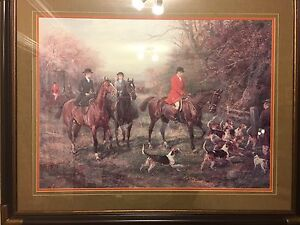 Bombay Company Classic Horses and Hounds Print