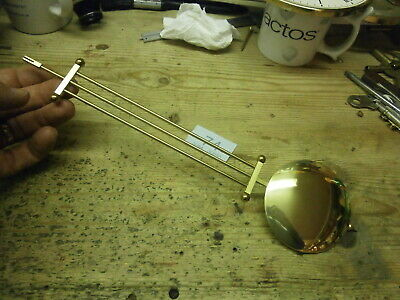 Wall Clock Grid PENDULUM Brass for HERMLE movement parts spares