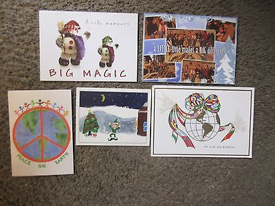 LOT #2-FIVE UNDATED DIAMOND RIO CHRISTMAS CARDS-EX.COND,SENT TO COUNTRY RADIO