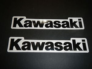 Two Kawasaki Universal Tank Swingarm Fork Stickers Decals KZ ZX KX KFX Ninja ZI