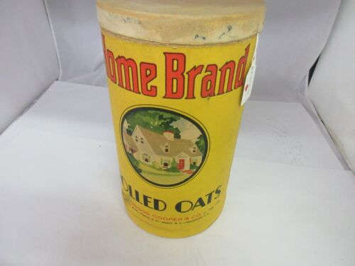 VINTAGE ADVERTISING CONTAINER HOME BRAND  ROLLED OATS CARDBOARD    373-S