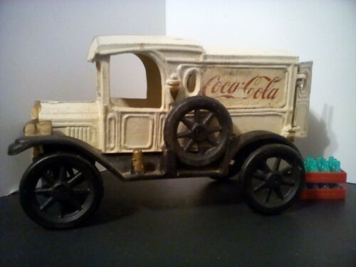 vintage cast iron coca cola truck