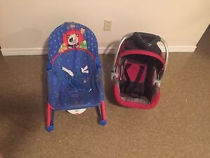 Car seat and baby rocker