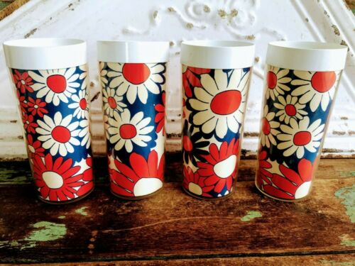 Vintage set 1960's flower cups West bend Thermo-serve