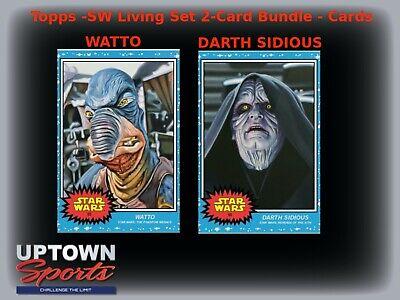 🔥2019 TOPPS STAR WARS LIVING SET - Cards #65-66 - WATTO - DARTH SIDIOUS