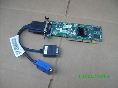 Dell ATI Radeon 7000 DVI AGP 32MB Graphics Card Dvi Ati Radeon 7000
