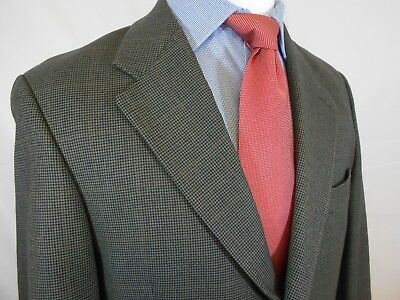 Chaps Ralph Lauren Three Button Olive Plaid Wool Sport Coat Size 41 R (J13)
