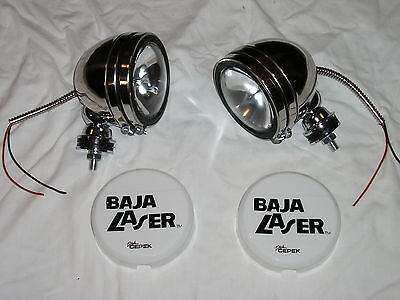 "Chrome Steel 5"" Baja KC Style Off Road Lights 100W truck jeep White Covers"
