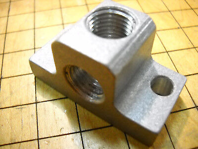 New 14 Npt Drop-ear 90 Degree Elbow Two Port Manifold 2200pde-2 6061 Aluminum