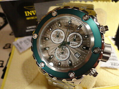 - Invicta 27816 Reserve 52mm Specialty Subaqua Green Chrono S/S Bracelet Watch NEW