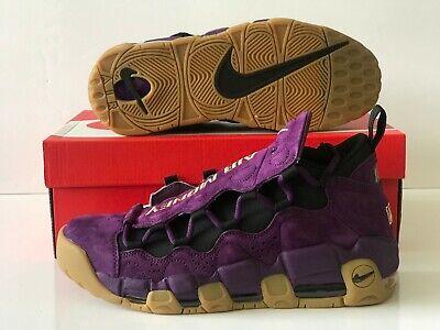 Nike Air More Money Purple Leopard NYC Metallic Gold Gum Size 8.5 (AR5401-500) (Purple Gum)