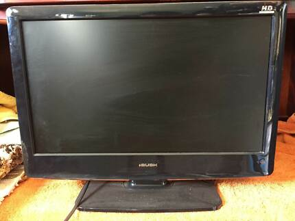 """BUSH 19"""" LCD TV on stand with remote and manual"""
