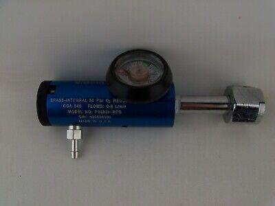 50 Psi Oxygen O2 Tank Regulator Cga 540 0-8 Lpm Brass-integral Pb080h Blue