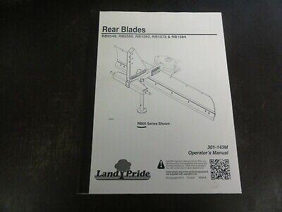 Land Pride Rb0548 Rb0560 Rb1560 Rb1572 Rb1584 Rear Blades Operators Manual 13