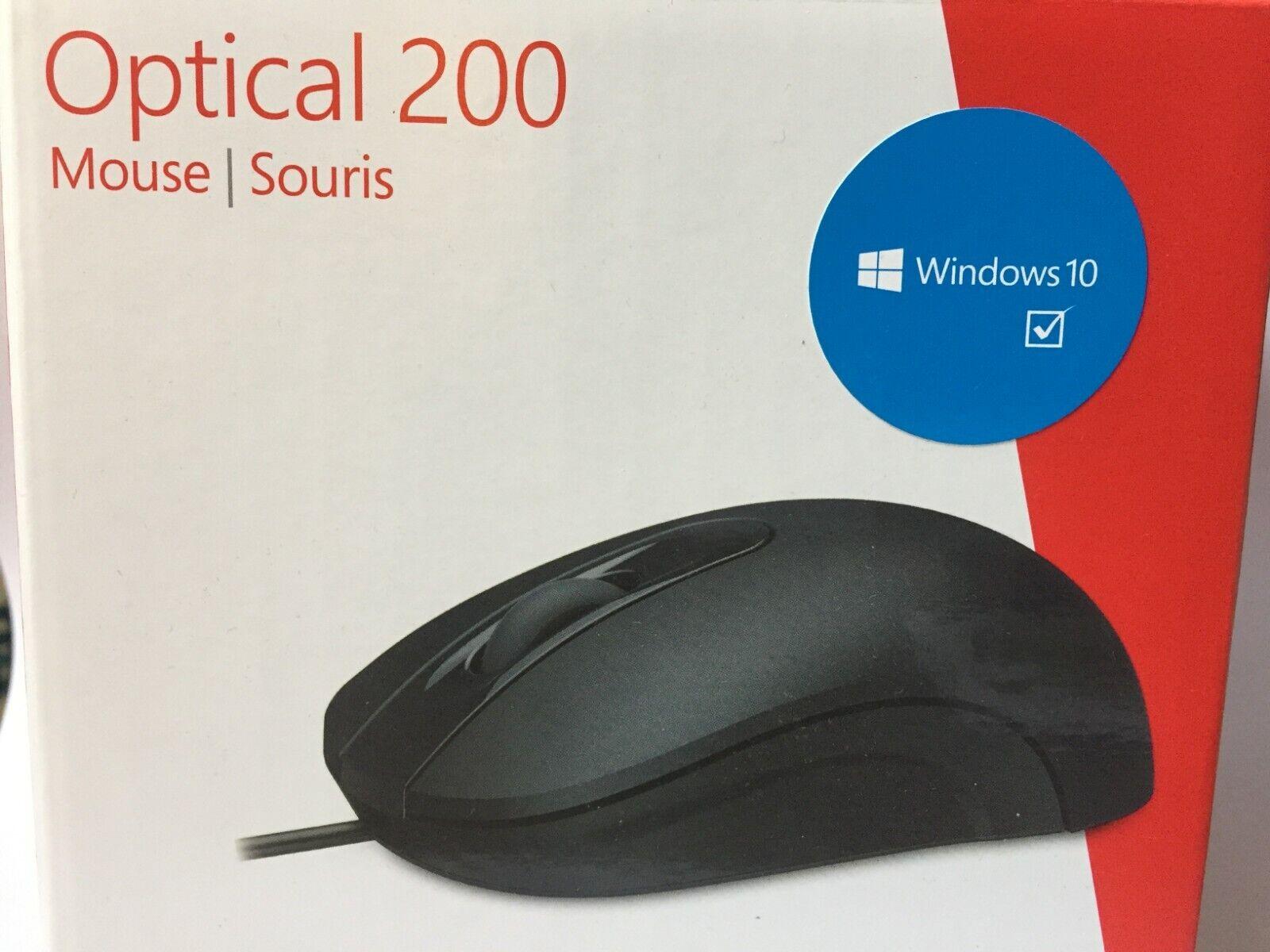 Microsoft Basic Optical Mouse Souris optique Noir USB dans sa boite d'origine