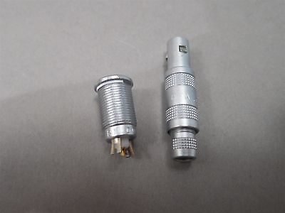 Lemo Connector Mated Pair Ern.00.250.ctl Receptacle Ffa.00.250 Plug 1-wire