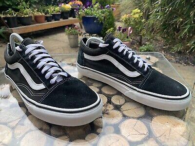 Vans Old Skool Mens Trainers -Black & White Skateboard Unisex Sneakers UK Size 9