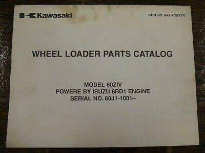 Kawasaki 60ziv Wheel Loader Isuzu 6bd1 Diesel Engine Part Catalog Manual