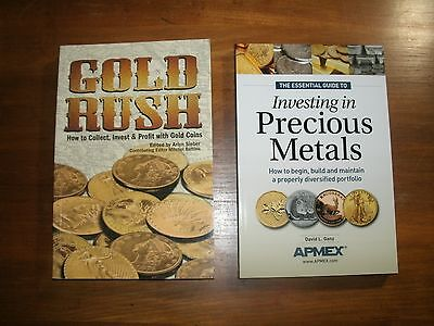 2 Books  Essential Guide To Investing In Precious Metals   Gold Rush  Free Ship