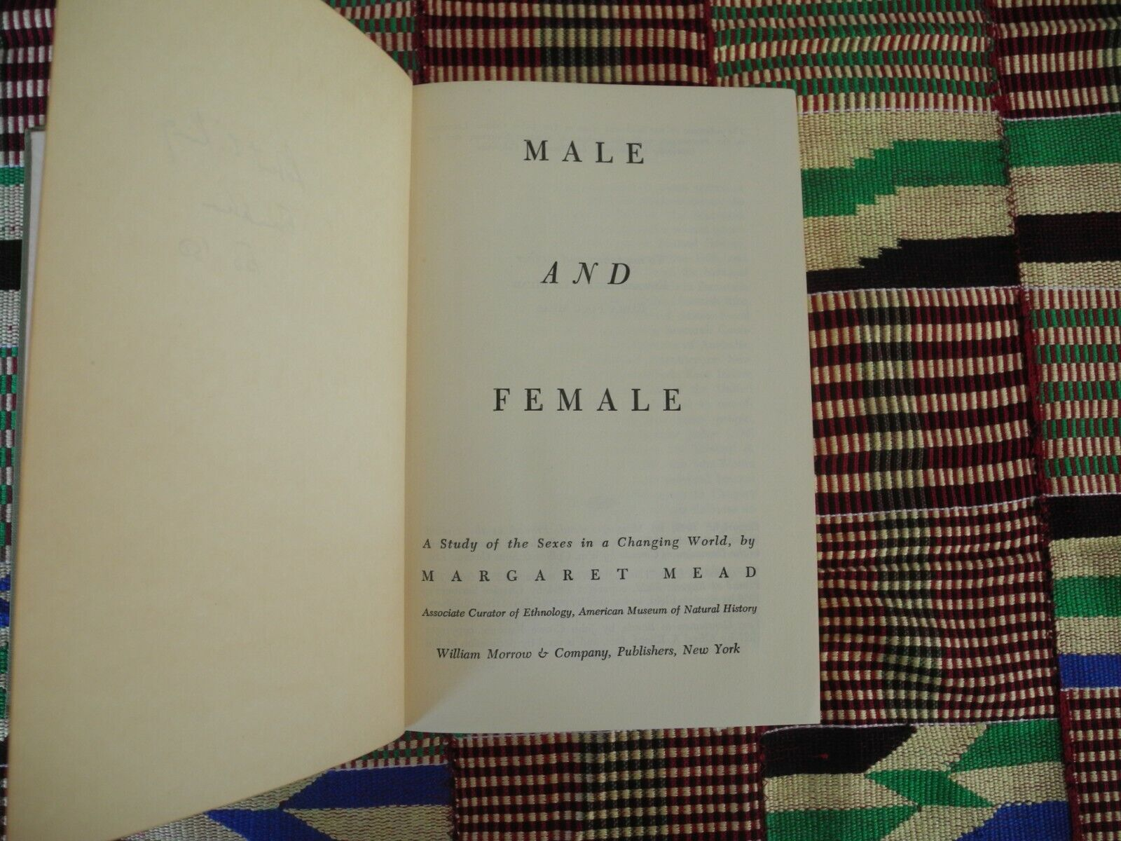 MARGARET MEAD. MALE AND FEMALE A Study Of The Sexes In A Changing World.1949. - $9.00