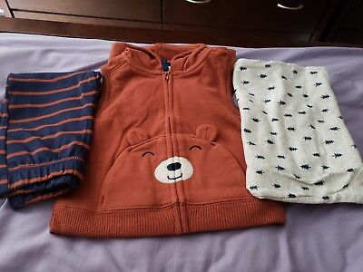 Carters Baby Toddler Boy/Girl 3PC Clothes Set Vest Romper Pants 9 12 18 Months Carters Boy Girl Baby Pants