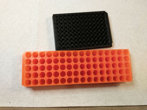 Lot of 2, Microplates for Pipettes (1) Nunc 96 Well Microplate (1) 80 well plate