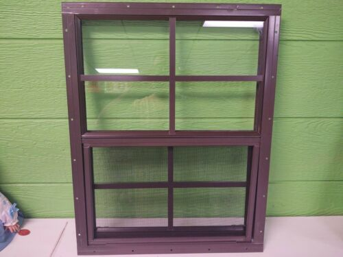 Shed Window--18 x 23 with 4 x 4 grids--White or Brown, flush or J-lap