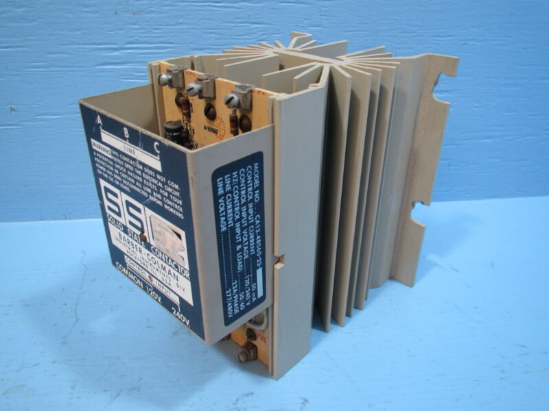 Barber Colman Solid State Contactor CA13-48060-23 SSC 120/240V 480V CA134806023