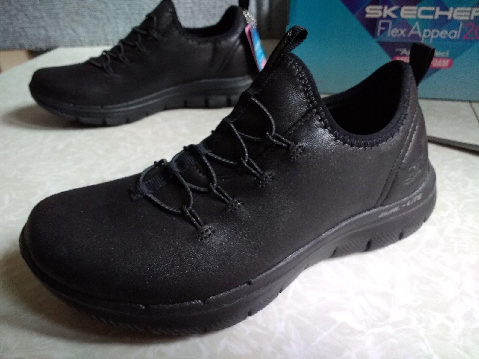 NWT, Womens Skechers Sport Flex Appeal 2.0 Top Story Sneaker
