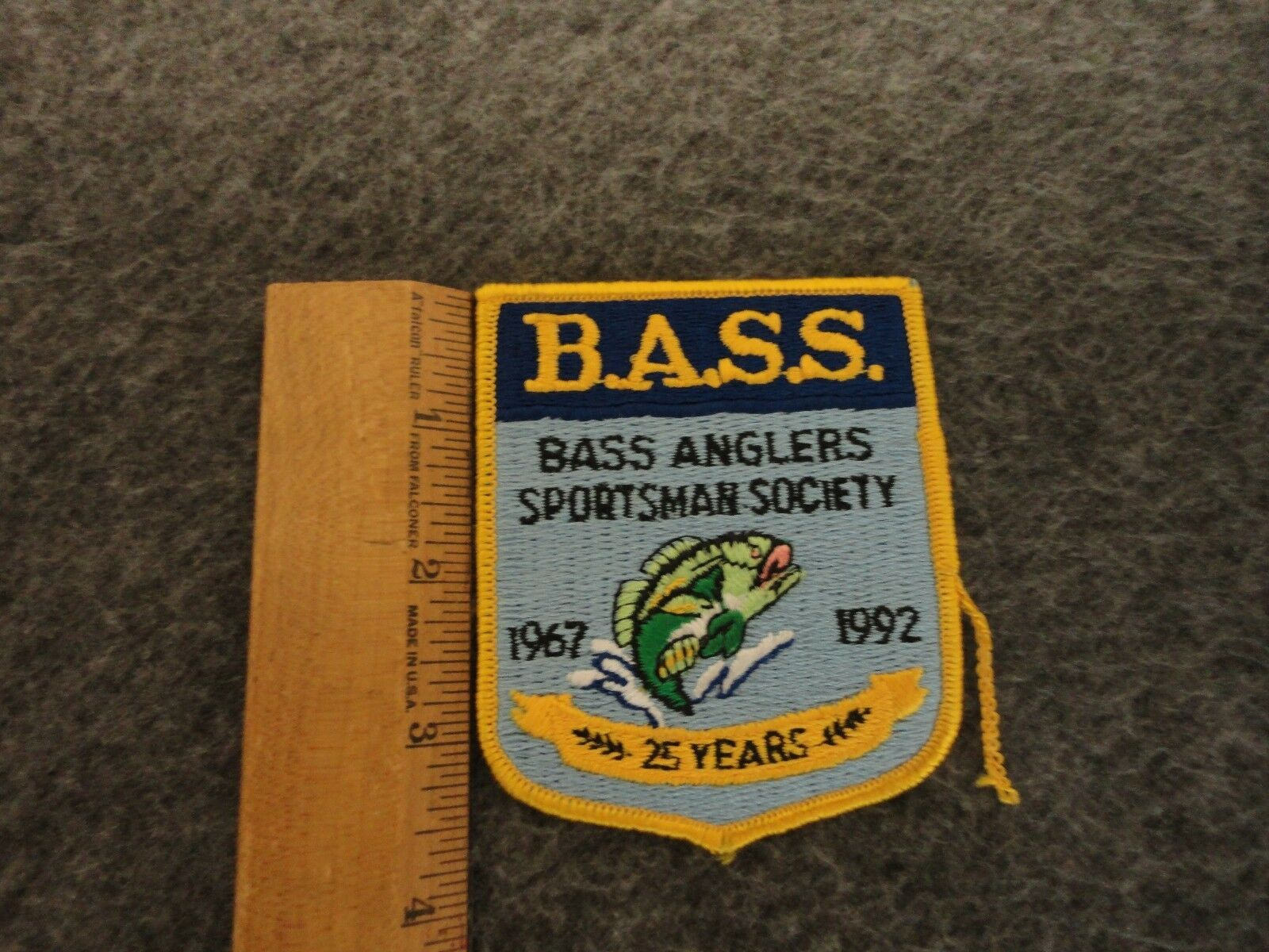 VINTAGE BASS ANGLER/FISHING MESH TRUCKER SNAPBACK HAT 1967-1992 PATCH - ONE SIZE - $24.95