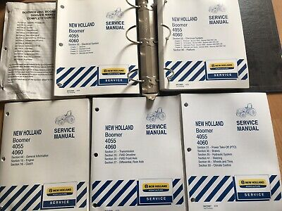 New Holland Boomer 4055 4060 Tractor Factory Service Repair Manual Set Oem