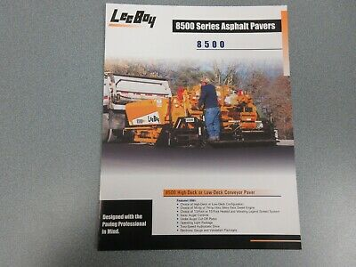 Leeboy 8500 Asphalt Paver Color Sales Brochure 4 Pages