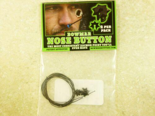 Bowmar Archery Nose Button Black 2 Pack -NEW!