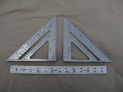 2 New 7 Rafter Square Aluminum Construction Framing Roof Tool