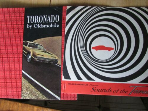 1966 Oldsmobile Sounds of Toronado Car Sales Record & Brochure