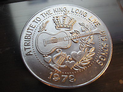 Elvis Presley Tribute To The King 1979 New Orleans Mardi Gras Doubloon Alum Coin