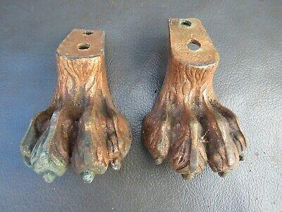 2 brass feet lion foot design - furniture restoration parts