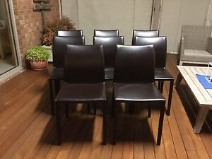 Leather Dining Chairs - Geelong Grovedale Geelong City Preview
