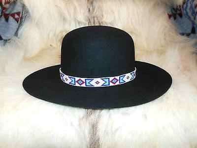 BILLY JACK MOVIE REPLICA HANDLOOMED BEADED HATBAND (Narrow)/ROUND DOME HAT