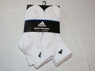 Gepolsterte Sport Quarter Socken (Adidas Herren 6 Packungen Quarter-Socken Schuh Größe 6-12 Climalite Gepolstert)