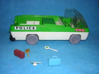 Playmobil Lot Geobra Vtg Police NoVan Roof and Some Accessories