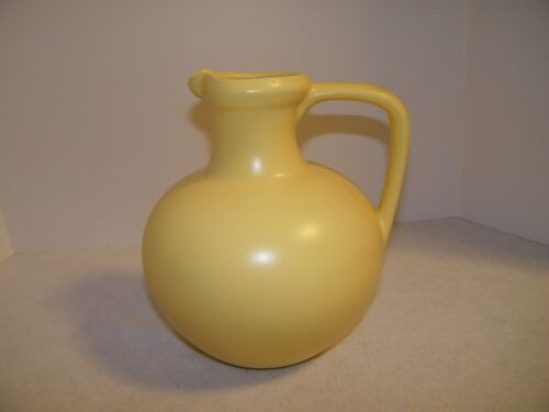 "Vintage Royal Haegar Yellow 10 1/2"" Pitcher"