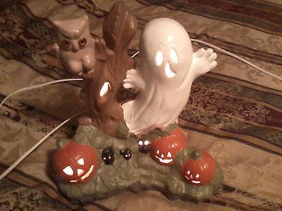 HALLOWEEN GHOST& PUMPKINS  PORCELIAIN LIGHT - Pumpkin Halloween Lights