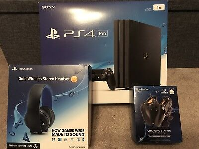 Sony Playstation 4 Ps4 Pro 1Tb Black Console