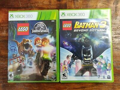 LEGO Jurassic World & LEGO Batman 3 - 2 Game Lot (Xbox 360)  *CIB - Complete*