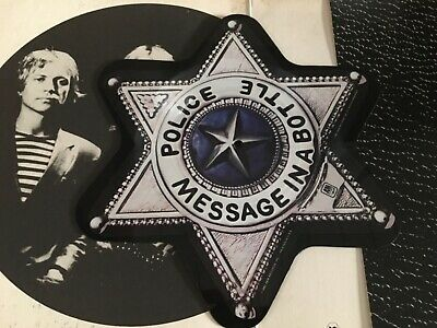 The Police , Picture Disc , Message in a Bottle , Badge Shape Vinyl