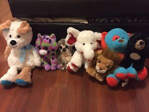 Lots of stuff animals with tags still on